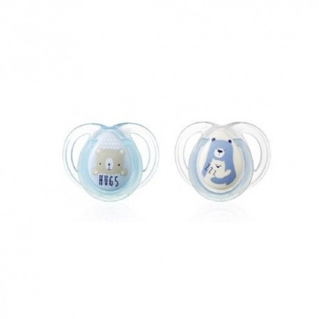 Tommee Tippee 2 Chupetes Night 0-6m