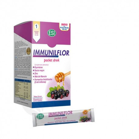Immunilflor Pocket Drink Sabor Cereza 16 Sobres Bebibles