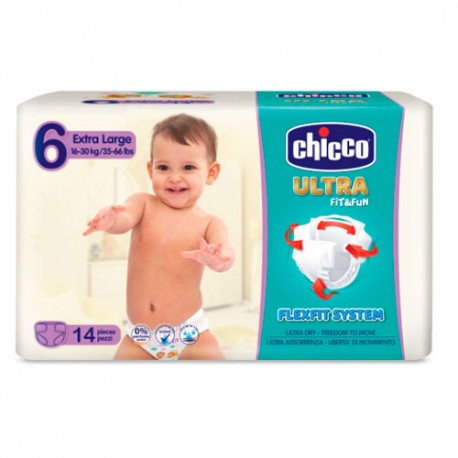 Chicco Ultra Extra Large Fit&Fun Talla-6 14 Unidades