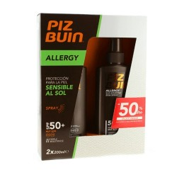 Comprar Piz Buin Pack Solar Allergy 50SPF+ 2x200ml