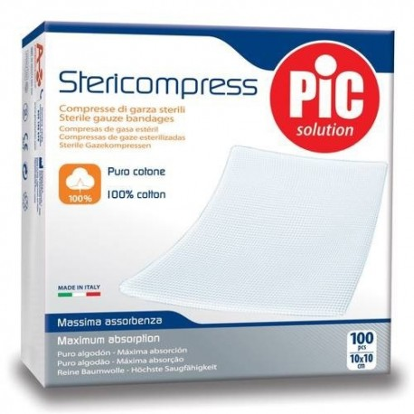 Pic Solution Stericompress 100ud 10x10cm