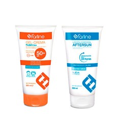 Farline Pack Gel-Crema Pediátrico 200ml + Aftersun 200 ml