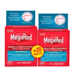 Megared 500mg 60 + 20 Cápsulas