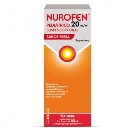 Nurofen Pediat 20 mg/ml 200 ml Fresa