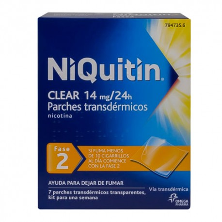 Niquitin Clear 14mg/24h 7 Parches Transdérmicos