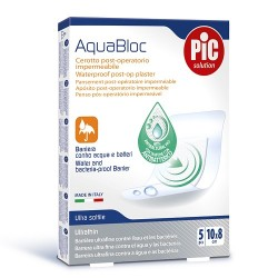 Aquabloc Post Operatorio Antibacteriano 10X8Cm 5 Uds