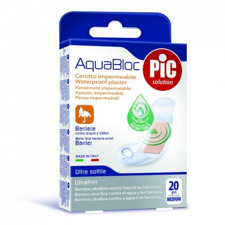 PIC Aquabloc Apósitos Antibacteriano 19x72mm