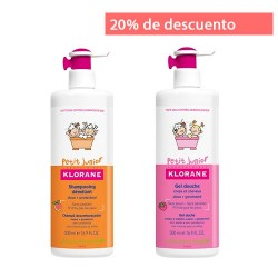 Comprar Klorane Petit Junior Pack Champú 500ml + Gel Ducha Frambuesa 500ml