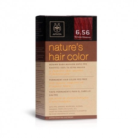 Apivita Tinte Nature's Hair Color 6.56 Rojo Intenso