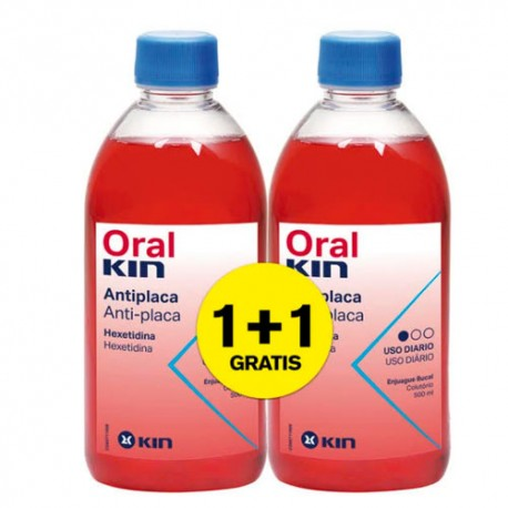 Oralkin Enjuague Bucal 500ml +500ml Gratis