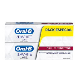 Oral-B Pasta 3D White Luxe Brillo Seductor 2x75ml