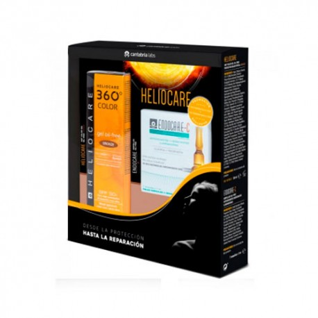 Heliocare Pack 360º Gel Oil-Free Bronze + Endocare-C