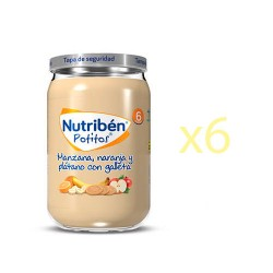 Nutriben Junior Manzana, Naranja, Platano y Galleta 6x200g