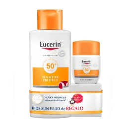 Eucerin Pack Sun Kids Locion spf50+ 400ml + 200ml de REGALO