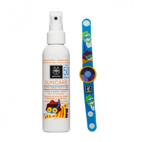 Apivita Suncare Kids Spray Solar Niños SPF50 150ml +REGALO