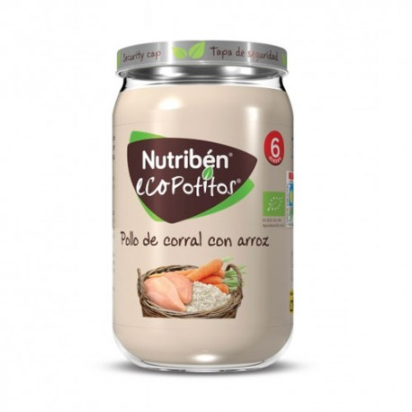 Nutribén EcoPotitos Arroz con Pollo de Corral 235g
