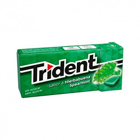 Trident Chicles Fresh Hierbabuena