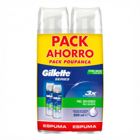 Gillette Pack Espuma Piel Sensible 2x250ml