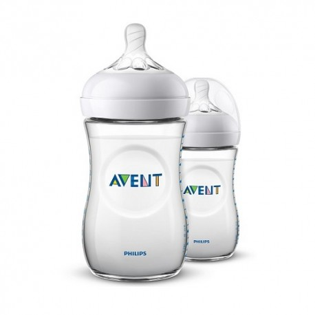 Philips Avent Duplo Biberón Natural 2x260ml 1m+