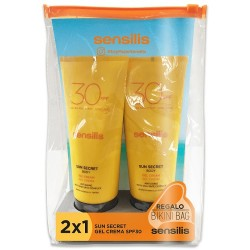 Sensilis Sun Secret Duplo Crema SPF30 2x200ml + Bikini Bag Regalo