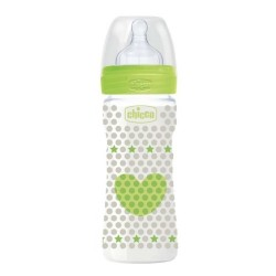 Chicco Biberón Well-Being Silicona +2meses 250ml