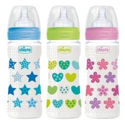 Chicco Biberón Well-Being Silicona +4m 330ml