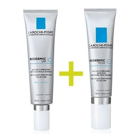 La Roche Posay Pack Redermic C Piel Normal o Mixta + Redermic Ojos 15ml