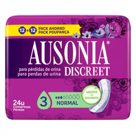 Ausonia Discreet Normal 24 Unidades