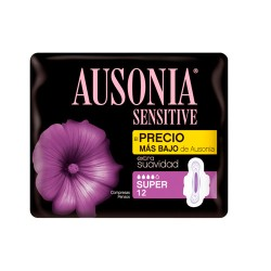 Comprar Ausonia Sensitive Super 12 Unidades