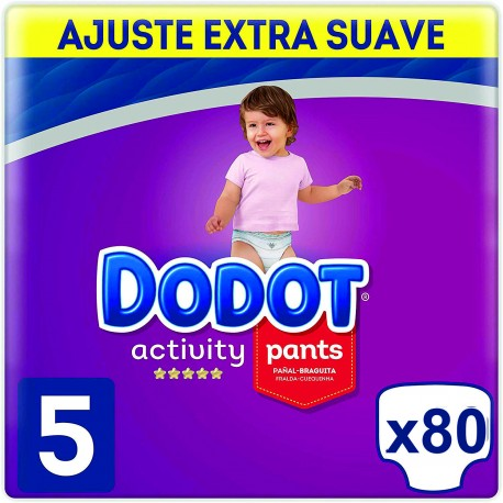 Dodot Activity Pants Talla 5 (12-17kg) Pack Ahorro 80 Unidades