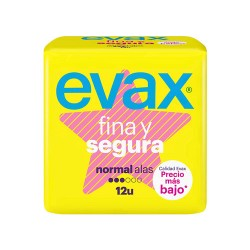 Comprar Evax Final y Segura Normal Alas 12 Unidades
