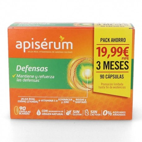 Apiserum Defensas Pack 90 Cápsulas Blandas