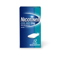 NICOTINELL COOL MINT (2 MG 12 CHICLES MEDICAMENTOSOS)