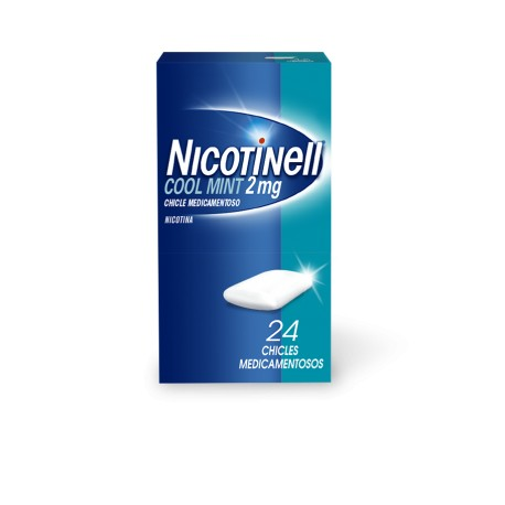 NICOTINELL COOL MINT (2 MG 24 CHICLES MEDICAMENTOSOS)