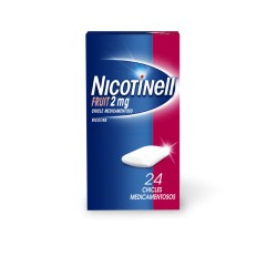 NICOTINELL FRUIT (2 MG 24 CHICLES MEDICAMENTOSOS)