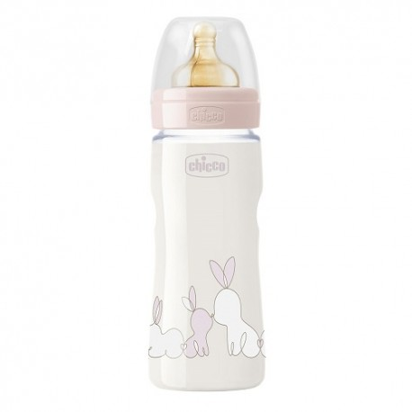 Chicco Biberón Original Touch Rosa +4m 330ml