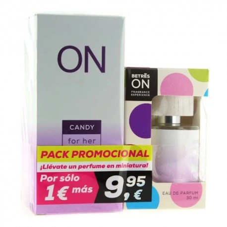 Betres ON Pack Perfume Candy 100ml + Formato Bolsillo 30ml