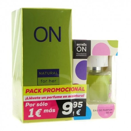 Betres ON Pack Perfume Natural 100ml + Formato Bolsillo 30ml