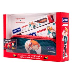 Comprar Vitis Junior Pack Cepillo Dental y Gel Dentífrico 75ml + Neceser Regalo
