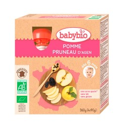 Comprar BabyBio Pouche Manzana Ciruela Bio 4x90 g