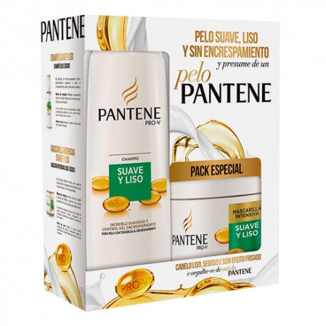 Pantene Pack Suave & Liso Champú 360ml + Mascarilla 300ml