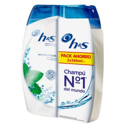H&S Bundle 2X360ml Champú Mentol