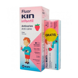 Kin Colutorio Anticaries Fresa 500ml + Pasta Dentífrica 50ml Regalo