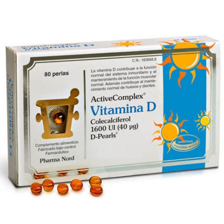 ActiveComplex® Vitamina D 40 mcg. 80 Perlas