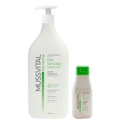 Mussvital Dermactive Locion Piel Sensible 1000ml + Regalo Gel 100ml