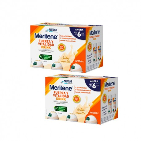 Meritene Pack Drink Vainilla 12x125ml
