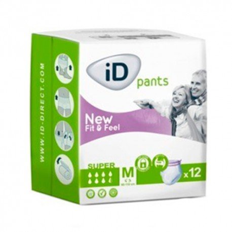 iD Pants Super Fit&Feel M Mediano 12 Unidades