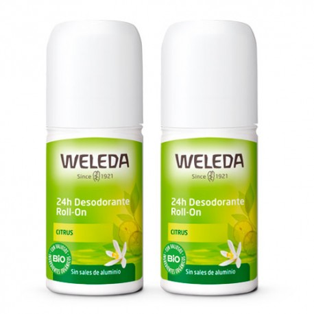 Weleda Desodorante Roll-On 24h Citrus Duplo 2x50ml