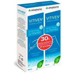 Vitiven Piernas Ligeras Gel Ultrafrio Duplo 2X150ml