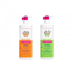 Klorane Petit Junior Pack Champú 500ml + Gel Ducha Pera 500ml